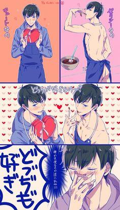 Karamatsu x Ichimatsu Hot Anime Boy, Anime Guys, Anime Male, Caste Heaven, Osomatsu San Doujinshi, Twin Star Exorcist, Ichimatsu, Manga Boy, Shounen Ai