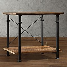 @Overstock - This Myra End Table has a weathered and timeworn patina allowing traces of natural wood and original colors to show through. With a stylish black sand metal frame, this table also provides storage for books and magazines.http://www.overstock.com/Home-Garden/Myra-End-Table/6743628/product.html?CID=214117 $150.99