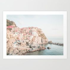 Positano, Italy Amalfi Coast Pink-peach-white Travel Photography In Hd Mini Art Print by My Beloved Printables - Without Stand - x Palm Trees Beach, Positano Italy, Canvas Prints, Art Prints, City Photography, Amalfi Coast, Buy Frames, Gallery Wall, Just For You