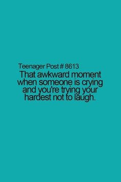It's so embarrassing! Trying to keep yourself from laughing can be quite hard!!