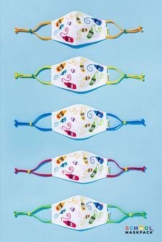 Face Masks For Kids, Easy Face Masks, Face Mask Set, Diy Face Mask, Fabric Crafts, Sewing Crafts, Sewing Projects, Diy Crafts To Sell, Diy Crafts For Kids