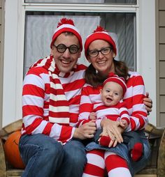 Where's Waldo???  Family halloween costume idea