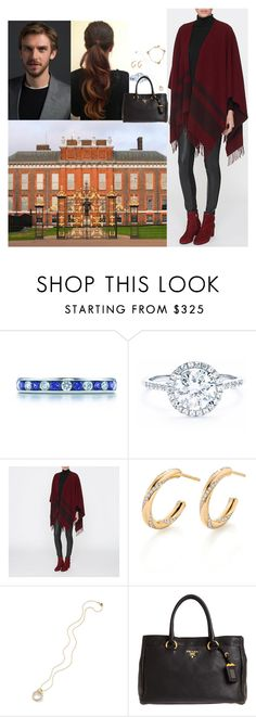 """""""Returning to London for meetings regarding the Paris attacks"""" by eleanorduchessofyork ❤ liked on Polyvore featuring Tiffany & Co., Prada and Alex Monroe"""