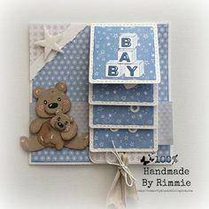 100% Handmade By Rimmie: Waterfallcard baby-boy