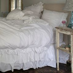 Rachel Ashwell Shabby Chic Couture Liliput White Ruffle Collection