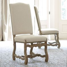 Capistrano Dining Chairs - Set of 2 Love these with their Andrews Pedestal Dining Table (TD340)