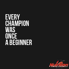 Every champion was once a beginner! #MondayMotivation