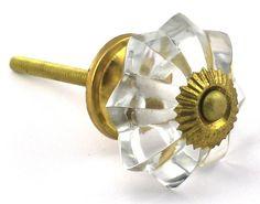 "$5, 1.75"", 6 Large Glass Cabinet Knobs Vintage Style Drawer Pulls Kitchen Handle #55LG | eBay"
