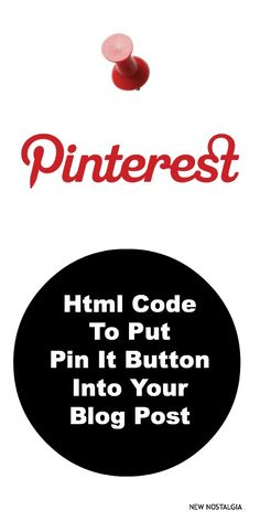 Html code to add pin it button to an individual post. #blogging #pinbutton
