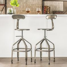 Antique Gray with Backrest 360 Degree Swivel Seat Adjustable Height Bar Stool  #BarStool #AntiqueGray #Backrest #360Degrees #Swivel #Adjustable #Seat #Stools #Furniture #BarStool #Kitchen #Dining #Home #HomeDecor