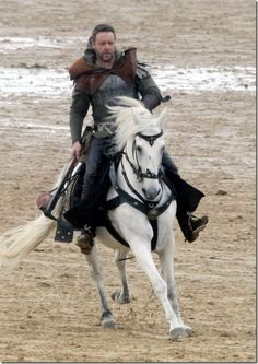 ROBIN HOOD ~ Russell Crowe > That was a beautiful and awesome horse too.  It was so well-trained, it should have won a best actor award!