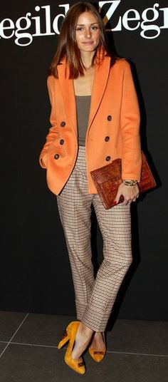 Shoes – Kurt Geiger, Purse – Hermes, Pants, jacket and top – Agnona (2010)