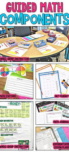 Separate Posts for: -Organization -Flexible Grouping -Managing Rotations -Whole Group Instruction -Small Group Guided Instruction -Independent Practice -Math Stations -Math Journals -Fact Fluency Fourth Grade Math, Second Grade Math, Third Grade, Grade 2, Sixth Grade, Maths 3e, Math Math, Math Fractions, Multiplication