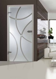 3 Ways to Cook Chick Window Glass Design, Frosted Glass Design, Frosted Glass Door, Etched Glass Door, Glass Hinges, Accent Wall Designs, Glass Shower Enclosures, Front Door Design, Bathroom Doors