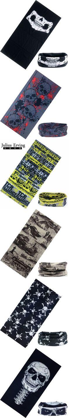 Julius Erving 100% Polyester Microfiber Tubular Bandana Neck Scarf Fashion Luxury Skull Head Bandana Men Face Mask Unisex