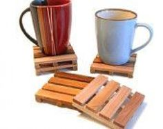 Mini pallet coasters! #smallwoodcrafts