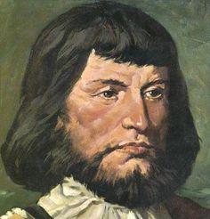 Pedro Alvares Cabral, fidalgo que descobriu o Brasil, encarregado de seguir a rota das índias, traçada dois anos antes de 1500, por Vasco da Gama. Pedro e suas 14 naus se perderam da rota e acabou nas costas brasileira no dia 22 de abril de 1500.