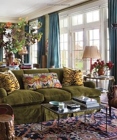 The Great American House: Tradition for the Way We Live Now Home Living Room, Living Room Designs, Living Room Decor, Living Spaces, Living Room Inspiration, Home Decor Inspiration, Design Salon, Eclectic Decor, Family Room
