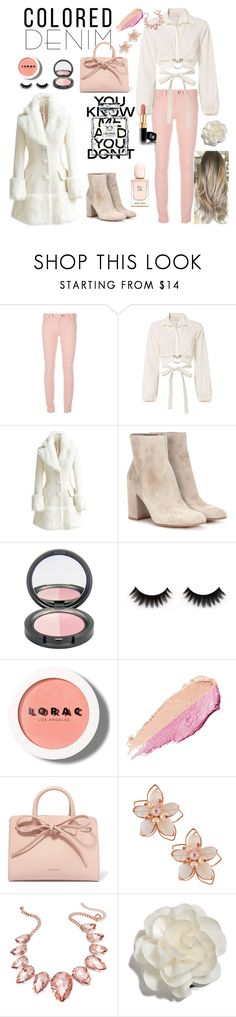 """pastel passion"" by chanel-parfum ❤ liked on Polyvore featuring Balenciaga, Cinq à Sept, WithChic, Gianvito Rossi, LORAC, By Terry, Mansur Gavriel, NAKAMOL, Thalia Sodi and Chanel"