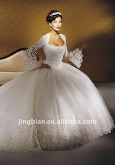 wedding dress ball gown poet sleeves  | Ball_gown_woman_wedding_dress_poet_long_sleeve_wedding_gowns_SC575.jpg