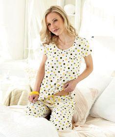 Women's Ruffle-Trim Capri Pajama Sets