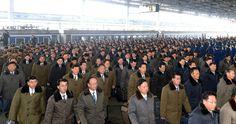 제1차 전당초급당위원장대회 참가자들 평양 도착
