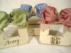 Cream hand painted baby frames-choice of color & monogram