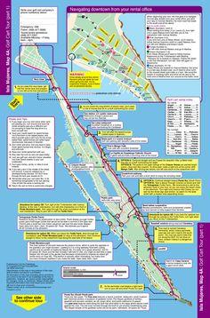 Isla Mujeres golf cart tour map Isla Mujeres Pinterest