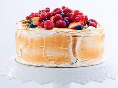 Himmelsk tårta med italiensk maräng