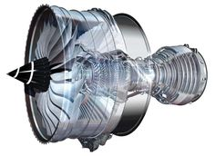 Rolls-Royce - The Trent XWB engine with single crystal cast turbine blades - manufactured in Rotherham
