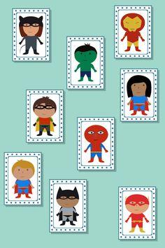 Superhero Snap Cards / Matching Pairs