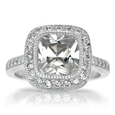 Cushion Cut Gorgeous! It's settled.. my fave diamond cut I a cushion cut!!