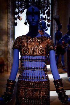 YSL Robe «Des tropiques» de la collection africaine, 1967