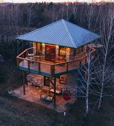 Shed To Tiny House, Tiny House Cabin, Tiny House Design, A Frame Cabin, A Frame House, Tower House, Cabin In The Woods, House Goals, Little Houses