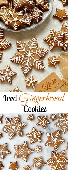 Iced Gingerbread Cookies – the classic Christmas cookie! Christmas Gingerbread, Christmas Treats, Christmas Baking, Italian Christmas, Gingerbread Houses, Christmas Recipes, Cookie Frosting Recipe, Ginger Bread Cookies Recipe, Iced Cookies