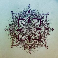 First tattoo sketch, mandala