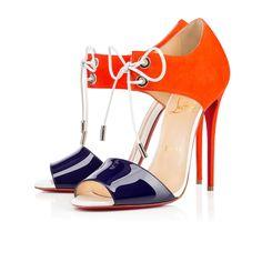 10cbb1b975541e MAYERLING PATENT/SUEDE, BLEU MARINE, Suede, Souliers Femme, Louboutin.  Belle. Belle ChaussureChaussures FemmeChaussures LouboutinTalons ...