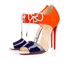 MAYERLING PATENT/SUEDE, BLEU MARINE, Suede, Souliers Femme, Louboutin.