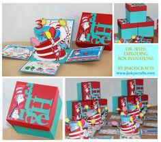 A Dr. Seuss exploding invitations! Too cute!!!