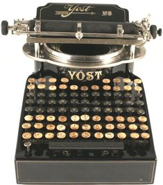 A 1910 Yost typewriter like this one has also been spied at Hanks' office
