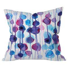 DENY Designs Cmykaren Abstract Watercolor Indoor/Outdoor Throw Pillow & Reviews | Wayfair