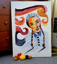 """autoportrait ""fiber ""homemade ""impression"