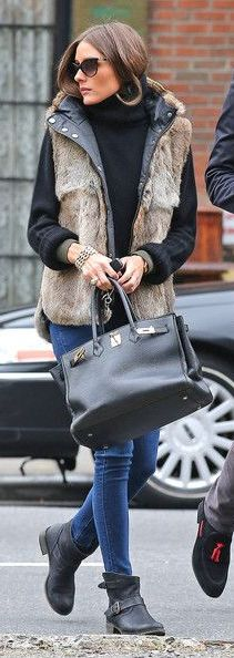 A faux fur vest is a must-have outerwear piece for this fall/winter season! They can transition from day to night easily, and can be worn over your favorite basics for a comfy chic look!