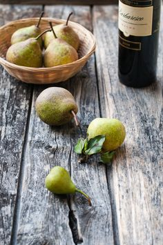 pears and wed wine