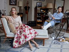 Tobey Maguire & Carolyn Murphy:Window Dressing- Vogue by Peter Lindbergh, April 2013