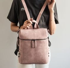 Cheap fashion leather backpack, Buy Quality leather backpack directly from China leather fashion backpack Suppliers: Simple Style Backpack Women PU Leather Backpacks For Teenage Girls School Bags Fashion Vintage Solid Black Shoulder Bag Faux Leather Backpack, Black Backpack, Backpack Bags, Fashion Backpack, Leather Backpacks, Pu Leather, Backpack Straps, Women's Backpacks, Backpack 2017