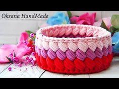 Корзина крючком из трикотажной пряжи. Basket crochet - YouTube