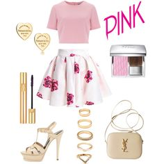 Doll Pink ♡ by hylls on Polyvore featuring polyvore, moda, style, Alice & You, Yves Saint Laurent, Tiffany & Co., Forever 21 and Christian Dior