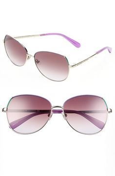 kate spade new york 'candis' 58mm sunglasses available at #Nordstrom  Almond Brown/Cream