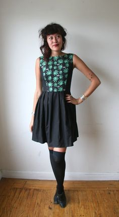 Weed Mini Dress. Would LOVE this cut of dress with the black with a different contrast fabric. beautiful.